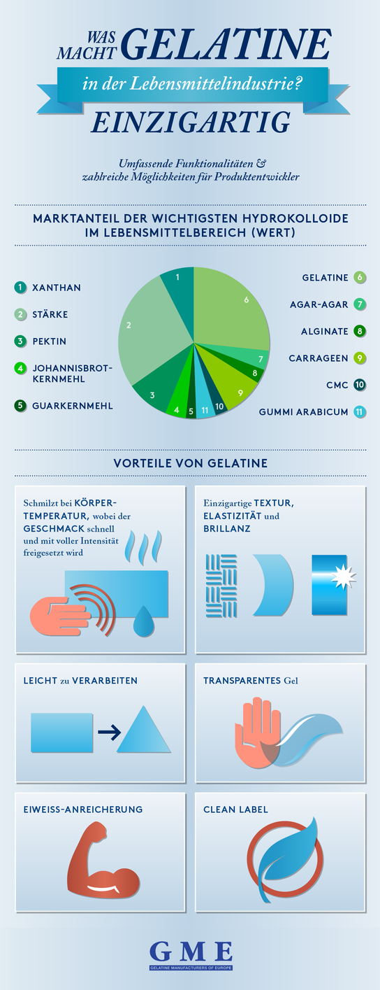 Was macht Gelatine in der Lebensmittelindustrie einzigartig?